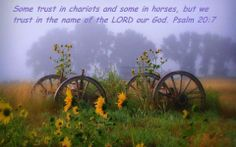Some trust in chariots and some in horses, but we trust in the name of the Lord our God.