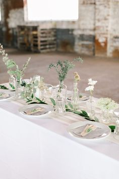 The minimal decor and handmade details in this wedding at The Glass Factory made a huge impact and set the stage for a truly romantic celebration.