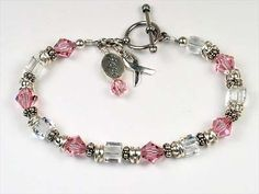 Sterling Silver Breast Cancer Bracelet.