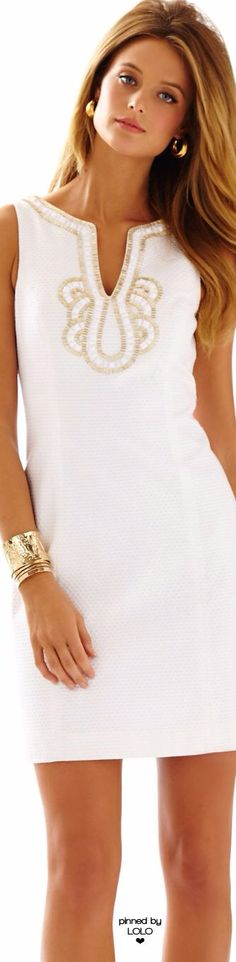 Lovely in White, Lilly Pulitzer ~ Resort White Janice Shirt Dress Beautiful Outfits, Cool Outfits, Casual Outfits, Moda Fashion, Womens Fashion, Fashion Trends, White Fashion, Spring Fashion, Bcbg
