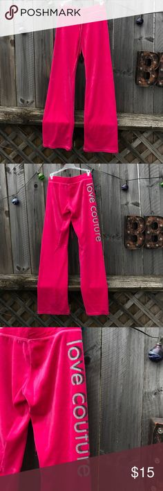 Juicy Couture velour pants Super cute Juicy Couture pants in awesome condition. Size small no rips tears or stains. Pet friendly smoke free home. Juicy Couture Pants Track Pants & Joggers