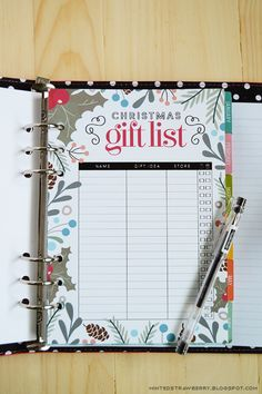 Free Printable: Christmas Gift List Insert for A5 Planners Letter Size