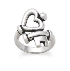 Key to My Heart Ring #jamesavery