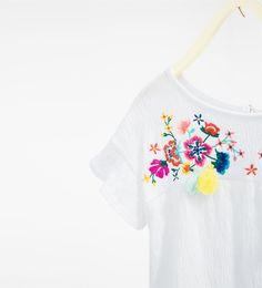 Imagem 5 de Blusa bordada da Zara