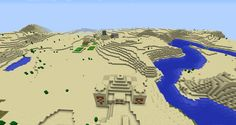 This Minecraft seed for PChas two two villages with lots of useful resources to plunder and also a desert temple with the best gift of all … DIAMONDS.