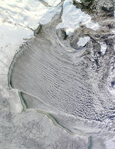 """NASA Satellite """"Drove Over"""" the Cloud Streets of Hudson Bay by NASA."""