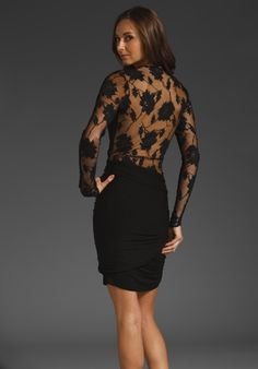 MASON BY MICHELLE MASON Lace Back Dress in Black at Revolve Clothing - Free Shipping!