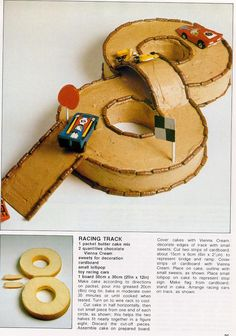 #8 Race Track shaped cake