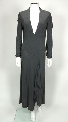 Yigal Azrouel Long Grey Wool Dress - Size 4 - Retail price $1000 - Our price $60 - Sale supports New York Cares