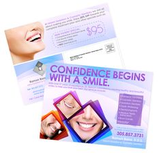 These are some postcards we designed and printed for Doctor Ramon Bana / Miami Sedation & Cosmetic Dentistry.    Contact Marketing@dblmedia.com for info