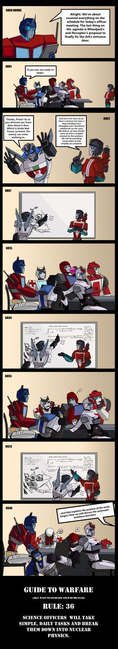 GTW: Rule 36 by Shy-Light.deviantart.com on @deviantART. Bahahaha I love how Prowl won't let Jazz bail! xD