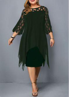 Cheap plus size dresses Plus size dresses online for sale Plus Size Lace Dress, Plus Size Dresses, Dress Lace, Plus Size Cocktail Dresses, Chiffon Cardigan, Stitching Dresses, Vestidos Plus Size, Panel Dress, Embellished Dress