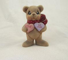 Ceramic Loving Valentine Bear with by GrapeVineCeramicsGft on Etsy, $10.00