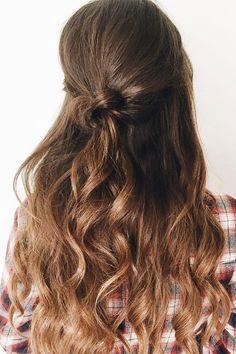 Gorgeous Half-Up Half-Down Hairstyles   Wedding Hairstyle Ideas,These Gorgeous Half-Up Half-Down Hairstyles , half up half down curly hairstyles,