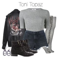 """""""Toni Topaz - Riverdale"""" by shadyannon ❤ liked on Polyvore featuring MISBHV, Topshop, Valentino, Alexander Wang and Sam Edelman"""