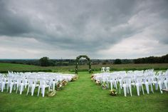 The Aisle - outdoor ceremony at Home Farm Northamptonshire www.esmefletcher.com