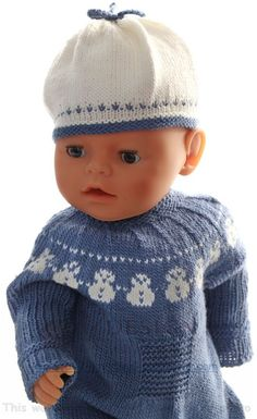 Baby Knitting Patterns Men Knitting knitting instructions – Pretty doll suit with a cute bow tie Knitting Dolls Clothes Patterns, Knitted Doll Patterns, Baby Sweater Patterns, Knitted Dolls, Baby Knitting Patterns, Baby Patterns, Clothing Patterns, Knitted Hats, Crochet Hats