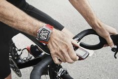 Today, Richard Mille debuts a watch aimed solely at the world of #cycling (and it even comes with a bike when you buy it). Read all about Richard Mille RM 70-01 Tourbillon Alain Prost 'Cycling' Watch.
