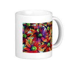 Daisy Straw multicoloured wildflowers Coffee Mug