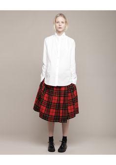 Limi Feu / Tartan Waist Tuck Wrapped Skirt