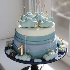 Birthday cakes are one of the most important things of interest in any birthday celebration. A birthday party with no tasty birthday cake will not mak. Beautiful Birthday Cakes, Beautiful Cakes, Pretty Cakes, Cute Cakes, Sweet Cakes, Baby Birthday Cakes, Baby Boy Cakes, Girl Cakes, Bolo Cake