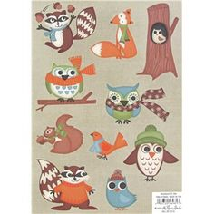 "These Woodland Cardstock Stickers are great for scrapbooking, crafting and any other projects.    	The sticker sheet measures approximately 5 1/2"" x 7 3/4"".    	The stickers are acid free."