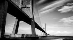 The sweeping Vasco da Gama Bridge in Lisbon, Portugal  Andrew Spencer of Alrincham, Great Manchester