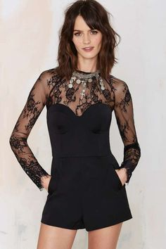 Nasty Gal Stevie Lace Romper | Shop Clothes at Nasty Gal!