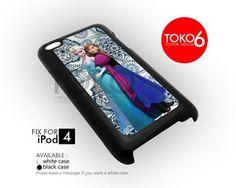 AJ 3673 Queen and Princess Frozen - iPod 4 Case | toko6 - Accessories on ArtFire