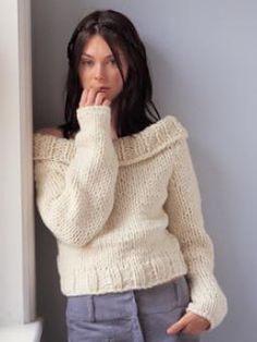 Knitted off the shoulder jumper