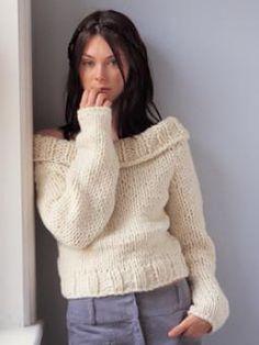 Knitted off the shoulder jumper