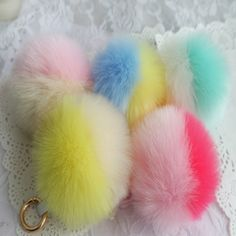2 color Fur Pom Pom Key Chain O Fluffy Keychain Chaveiro Faux Rabbit Hair Bulb Bag Car Ornaments Fox Fur Ball Pendant Key Ring