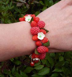 Cute wedding charm berry bracelet  Bridesmaid bracelet