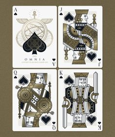 king playing card vector unique omnia playing cards by thirdway industries kickstarter of king playing card vector Unique Playing Cards, Playing Cards Art, Custom Playing Cards, Vintage Playing Cards, King Of Hearts Card, Business Card Design Inspiration, House Illustration, Digital Illustration, Object Drawing
