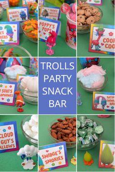 Trolls Party Snack Bar