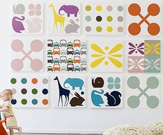 """Cool Art for the Nursery""    I could make some of these right?"