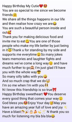 Happy Birthday Best Friend Quotes, Happy Birthday Quotes For Friends, Birthday Quotes For Best Friend, Bff Quotes Funny, Besties Quotes, Cocky Quotes, Cute Texts For Him, Birthday Captions, Real Friendship Quotes
