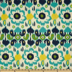 Accent Fabric by the Yard Blue Rio Premier Prints. $12.00, via Etsy.