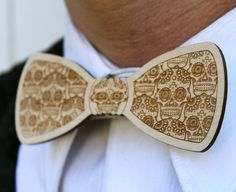 Wood Bow Tie Laser Cut for Men or Women. $15.00, via Etsy.