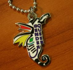 Genderqueer Sea Horse Necklace With 24 Inch Chain by breatheresist, $10.00