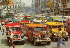Avenida (from Manila Nostalgia) - philippines holiday Philippines Culture, Manila Philippines, Philippines Travel, Olongapo, Philippine Holidays, Filipino Culture, Chinese Culture, Jeepney, Pinoy