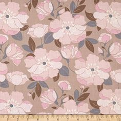 $5.99 Double Gauze Petals Caramel Fabric By The Yard