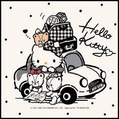 Traveling with Kitty - Hello Kitty Hello Kitty Tattoos, Hello Kitty Art, Hello Kitty My Melody, Hello Kitty Items, Hello Kitty Birthday, Kitty Kitty, Hello Kitty Pictures, Kitty Images, Hello Kitty Backgrounds