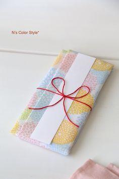 ★ダイソー100円手ぬぐいで作る♪お祝い袋 インテリアと暮らしのヒント