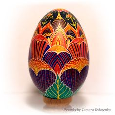 Goose wax painted egg with Lotos Flower indian style. Ukrainian souvenir Pysanka is the best present and amulet for you and your close people. Egg Crafts, Easter Crafts, Egg Shell Art, Egg Shell Painting, Painting Eggs, Ukrainian Easter Eggs, Cool Easter Eggs, Ukrainian Art, Easter Egg Pattern