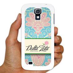 Delta Zeta Samsung Galaxy S4 White Slim Case - Floral Print Design