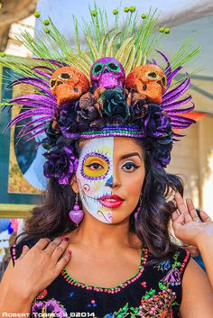 2014-10-12-Whittier-Dia-De-Los-Muertos-Art-and-Car-Show-7 - Dia de muertos-Mexico, cultura, tradicion - Calavera Catrina Day of the death
