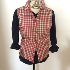Plaid down puffer ❄️ Gorgeous Lands End down puffer. Cute preppy plaid print. Red interior. Lining 100% nylon. Insulation 80% down 20% feathers. Lands' End Jackets & Coats Puffers