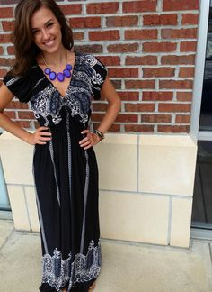Bohemian Maxi Dress one size fits most 35.00 at JenDaisy Boutique in Greenwood IN.  Find us on facebook!