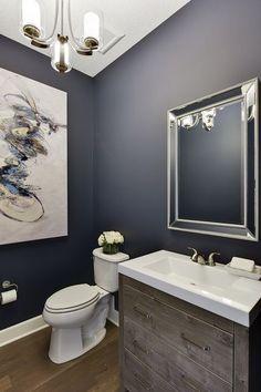 cream gray bathroom   Blue gray paint, Paint colors, Blue ...